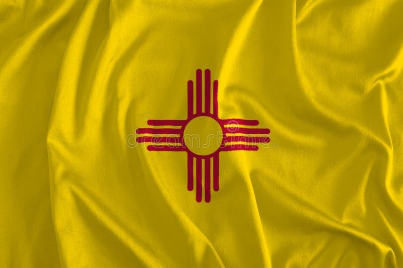 Flaga Nowy - Mexico tło, ziemia zachwyt royalty ilustracja
