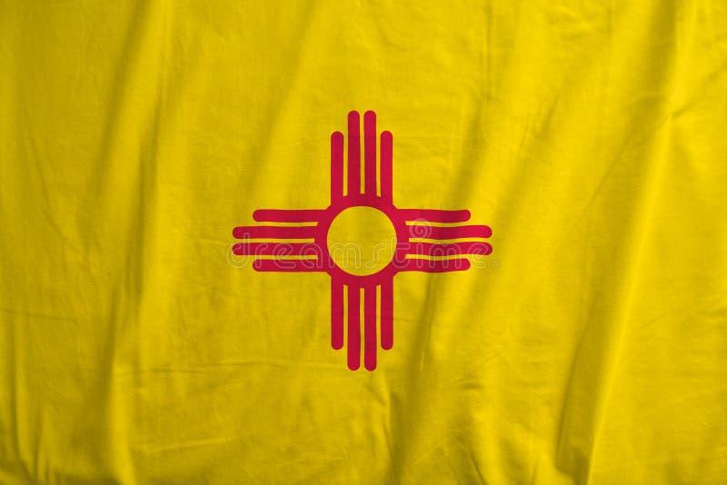 Flaga Nowy - Mexico, usa falowanie zdjęcie stock