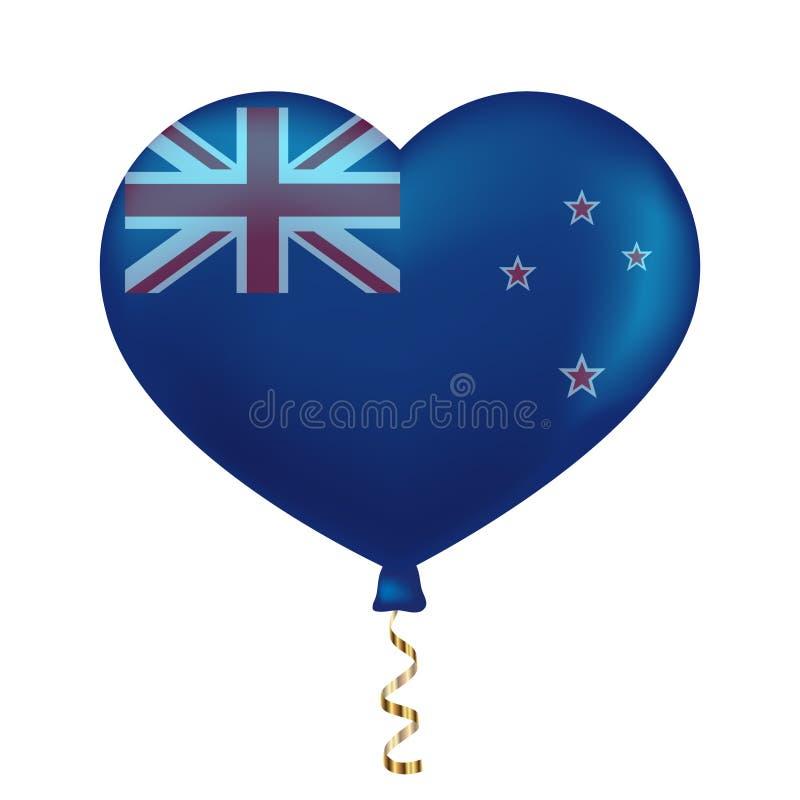 Flaga nowy Zealand w kierowym kształcie royalty ilustracja