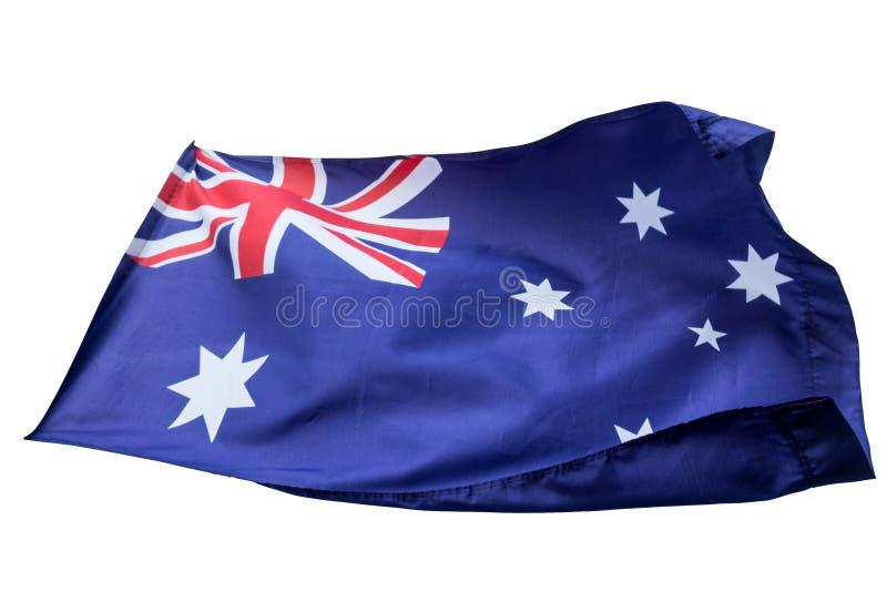 Flaga odizolowywająca z chodzenie fala na flaga Australia obywatel obrazy stock