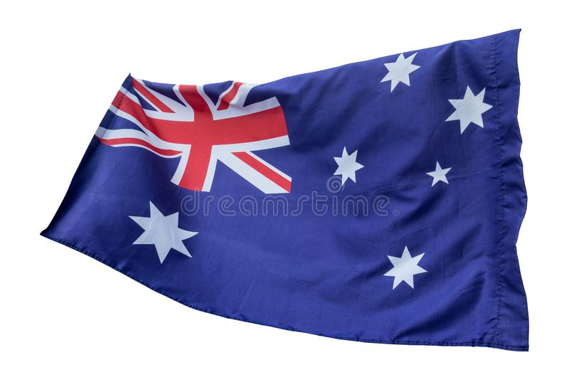 Flaga odizolowywająca z chodzenie fala na flaga Australia obywatel zdjęcie stock