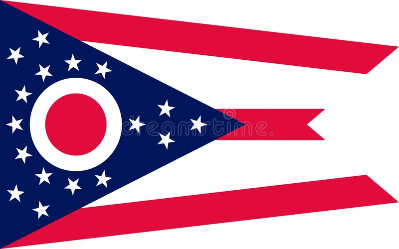 Flaga Ohio, usa obrazy stock