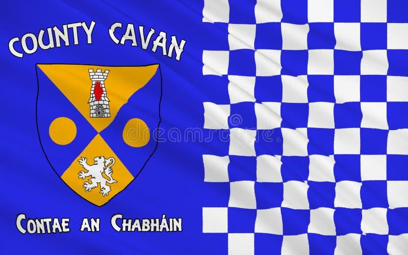 Flaga okręg administracyjny Cavan jest okręgiem administracyjnym w Irlandia ilustracja wektor