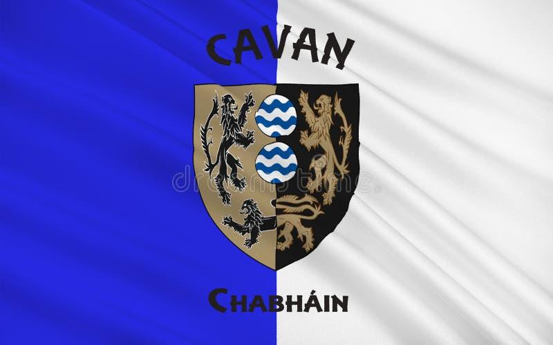 Flaga okręg administracyjny Cavan jest okręgiem administracyjnym w Irlandia ilustracji