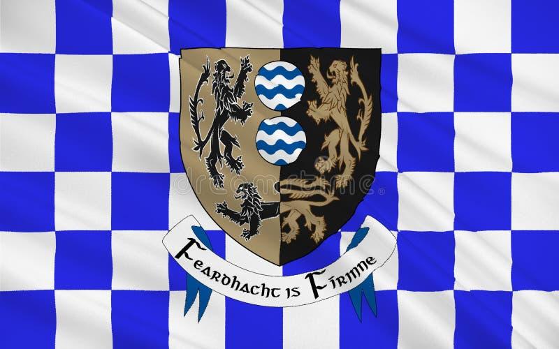 Flaga okręg administracyjny Cavan jest okręgiem administracyjnym w Irlandia royalty ilustracja