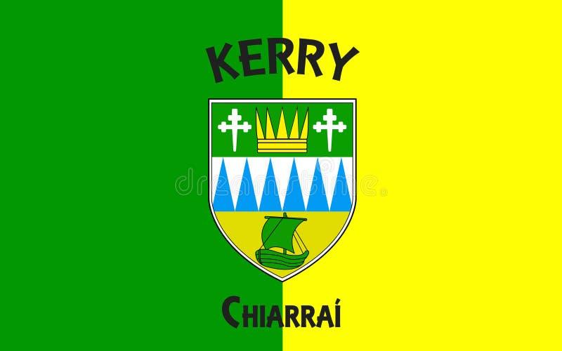 Flaga okręg administracyjny Kerry jest okręgiem administracyjnym w Irlandia royalty ilustracja
