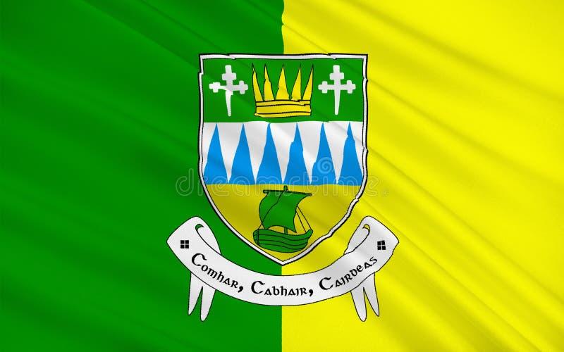 Flaga okręg administracyjny Kerry jest okręgiem administracyjnym w Irlandia ilustracja wektor