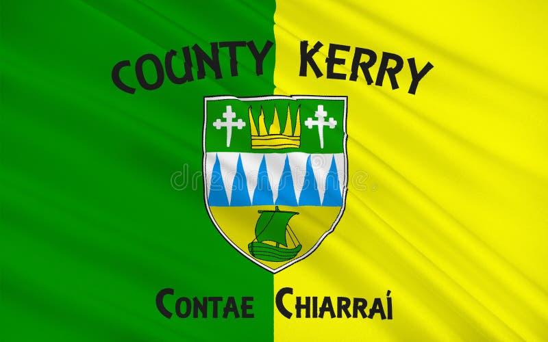 Flaga okręg administracyjny Kerry jest okręgiem administracyjnym w Irlandia ilustracji