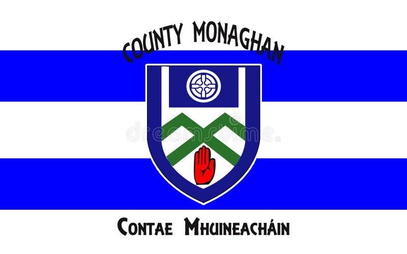 Flaga okręg administracyjny Monaghan jest okręgiem administracyjnym w Irlandia zdjęcia royalty free