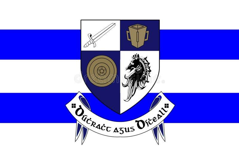 Flaga okręg administracyjny Monaghan jest okręgiem administracyjnym w Irlandia zdjęcia stock