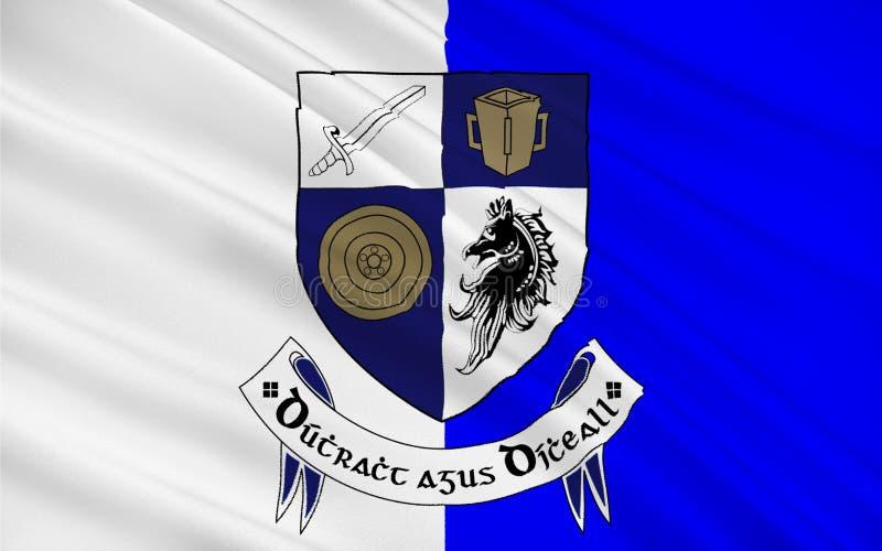 Flaga okręg administracyjny Monaghan jest okręgiem administracyjnym w Irlandia obrazy stock