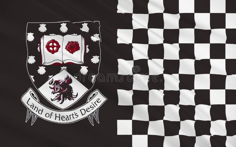 Flaga okręg administracyjny Sligo jest okręgiem administracyjnym w Irlandia royalty ilustracja