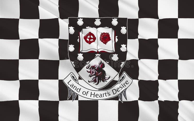 Flaga okręg administracyjny Sligo jest okręgiem administracyjnym w Irlandia ilustracji