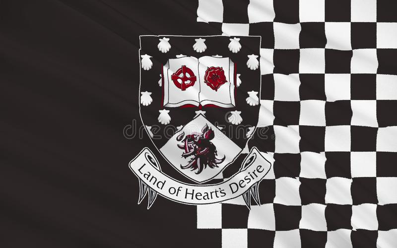 Flaga okręg administracyjny Sligo jest okręgiem administracyjnym w Irlandia ilustracja wektor