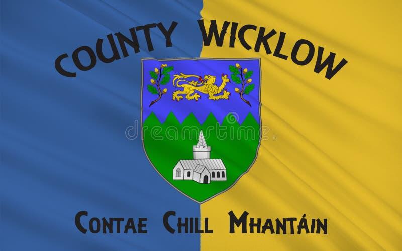 Flaga okręg administracyjny Wicklow jest okręgiem administracyjnym w Irlandia ilustracji