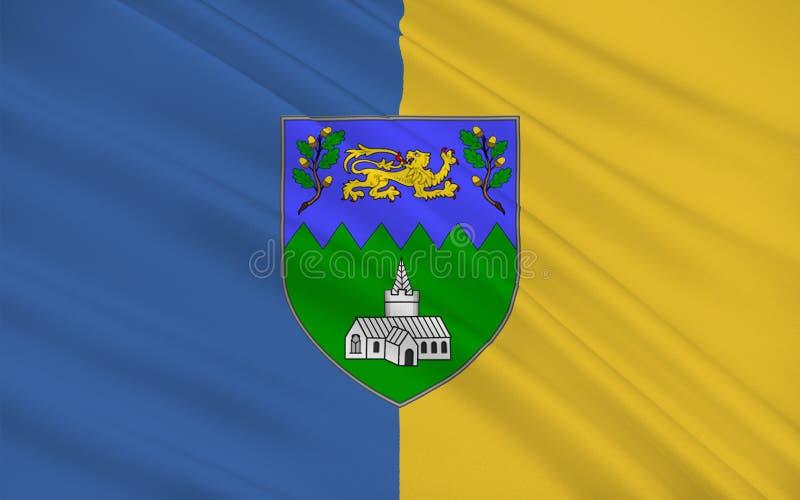 Flaga okręg administracyjny Wicklow jest okręgiem administracyjnym w Irlandia royalty ilustracja
