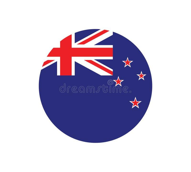 Flaga Państowowa Nowa Zelandia _Nowa Zelandia flaga, urzędnik barwić Obywatela Nowa Zelandia flaga Płaska wektorowa ilustracja EP royalty ilustracja