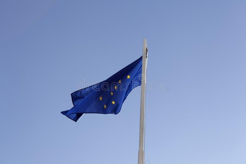 Flaga państowowa Alaska na flagpole obrazy royalty free