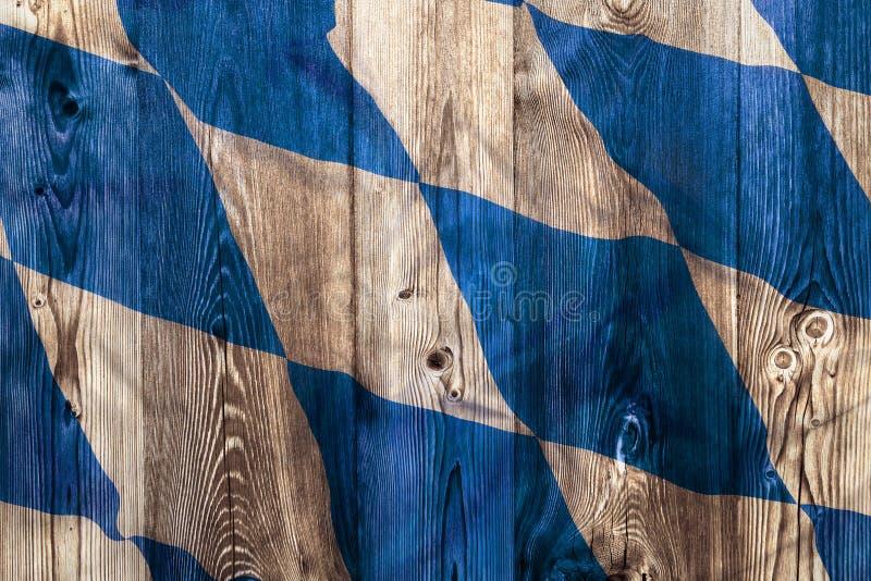 Flaga państowowa Bavaria, drewniany tło zdjęcia stock