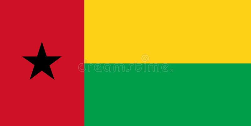 Flaga państowowa Bissau Tło z flagą Bissau ilustracja wektor