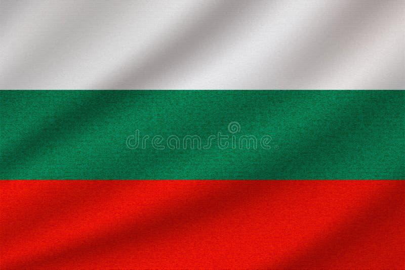Flaga państowowa Bułgaria royalty ilustracja