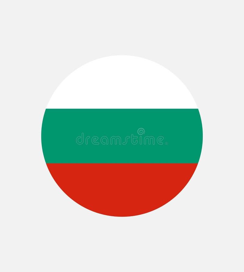 Flaga państowowa Bułgaria horyzontalny tricolor biel, zieleń i czerwień, Bułgaria flaga, oficjalna proporcja prawidłowo ilustracja wektor