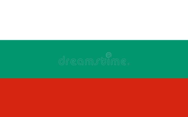 Flaga państowowa Bułgaria tło dla redaktorów i projektantów Święto narodowe royalty ilustracja
