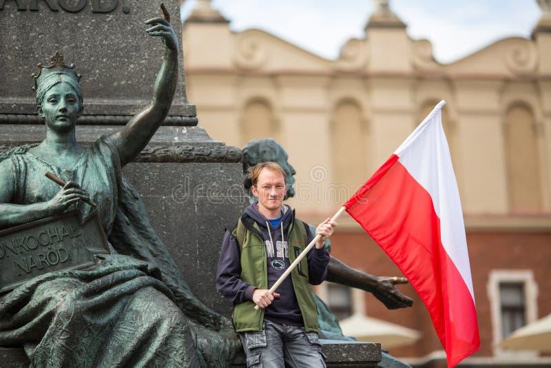 Flaga Państowowa dzień republika Polska świętował między wakacjami obraz stock