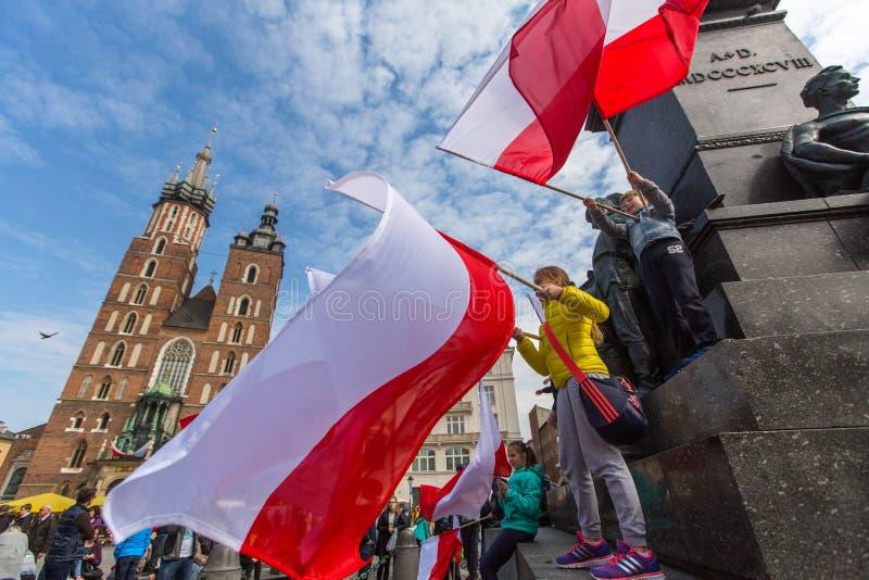 Flaga Państowowa dzień republika Polska zdjęcia royalty free