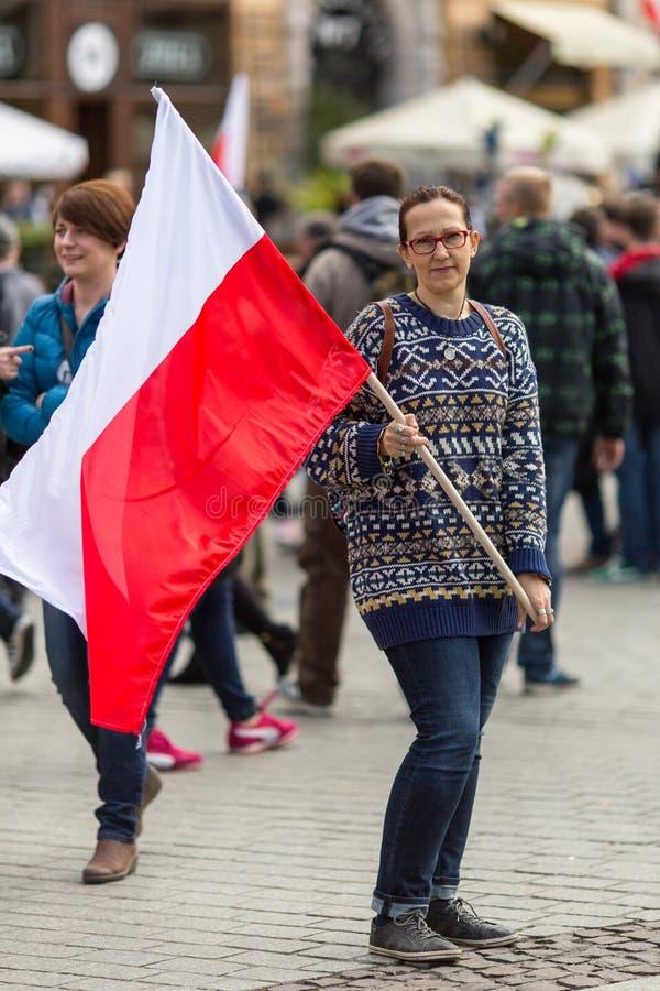Flaga Państowowa dzień republika Polska obraz royalty free