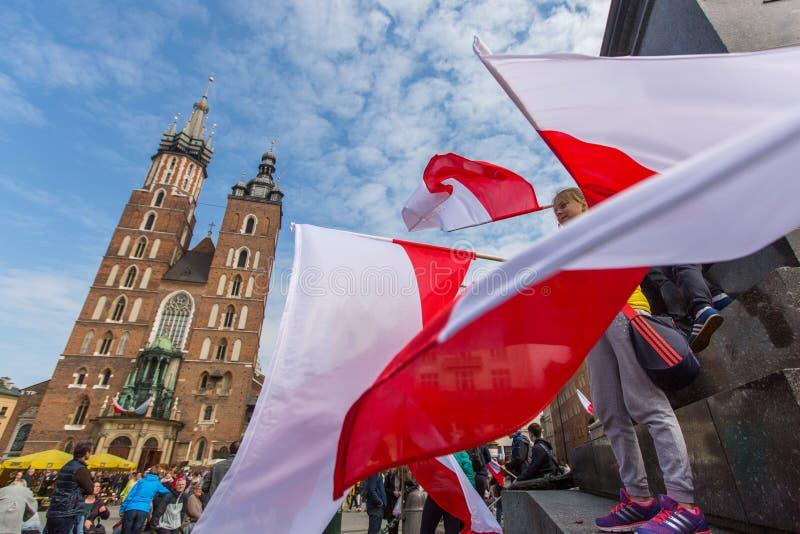 Flaga Państowowa dzień republika Polska zdjęcie stock