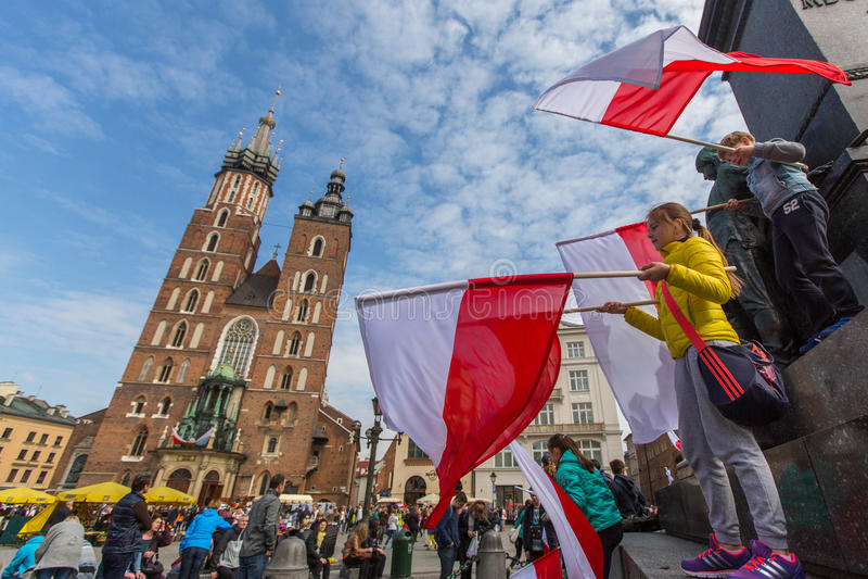 Flaga Państowowa dzień republika Polska obrazy royalty free