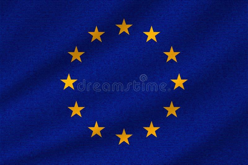 Flaga państowowa Europejski zjednoczenie royalty ilustracja