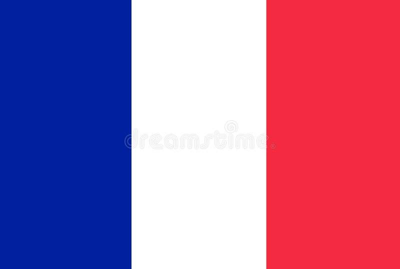 Flaga Państowowa Francja tło dla redaktorów i projektantów Święto narodowe ilustracja wektor