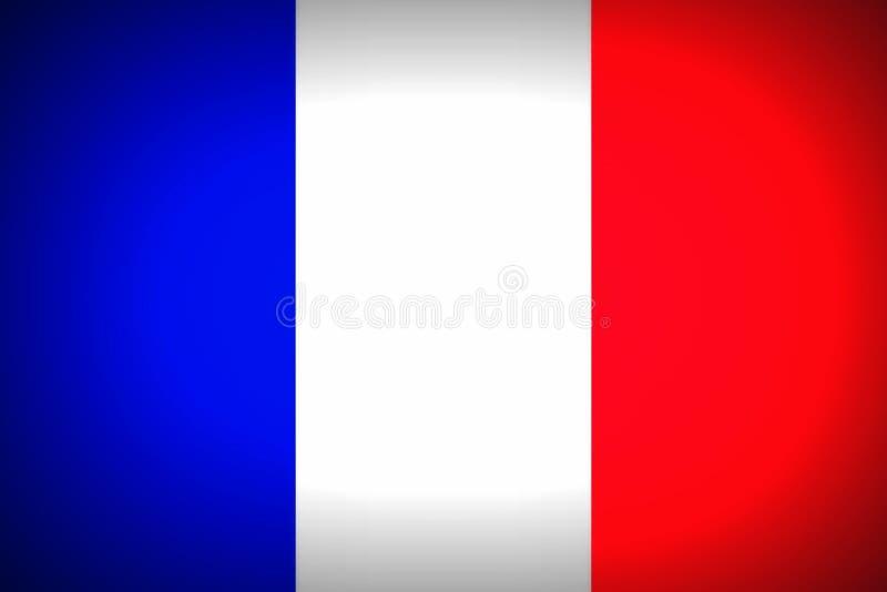 Flaga państowowa francuz ilustracji