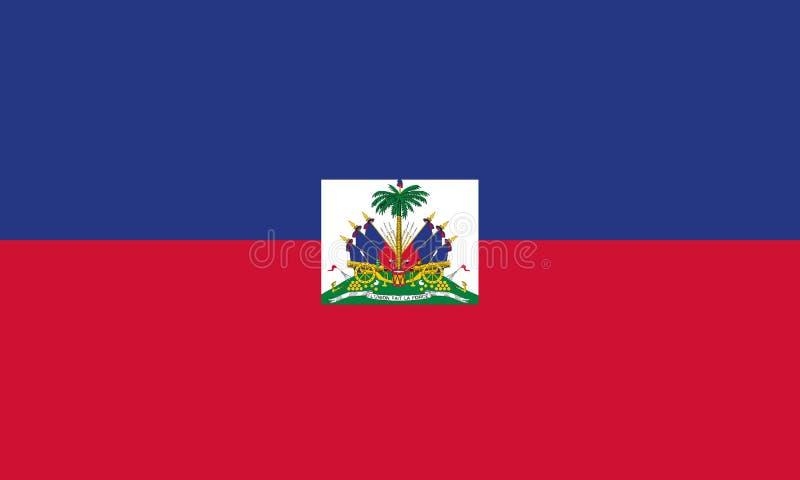 Flaga Państowowa Haiti royalty ilustracja