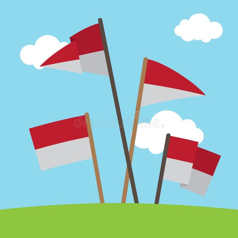 Flaga Państowowa Indonezja wektor fotografia royalty free