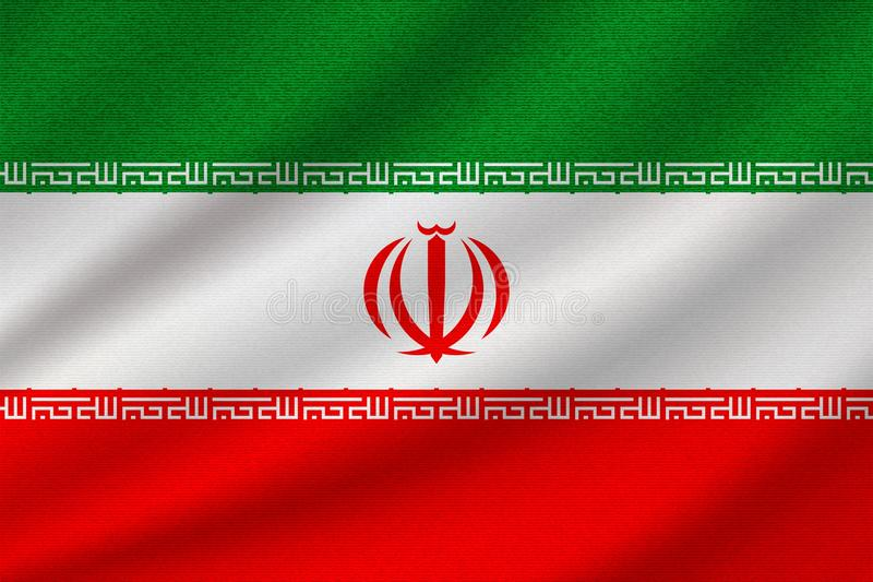 Flaga państowowa Iran ilustracji