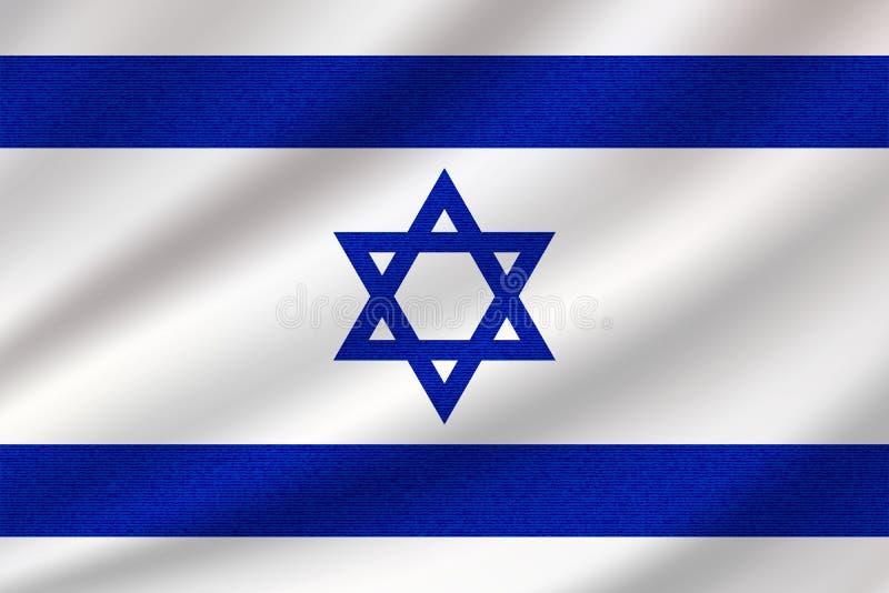 Flaga państowowa Izrael ilustracja wektor