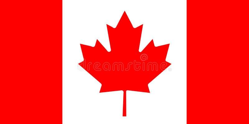 Flaga Państowowa Kanada tło dla redaktorów i projektantów Święto narodowe royalty ilustracja