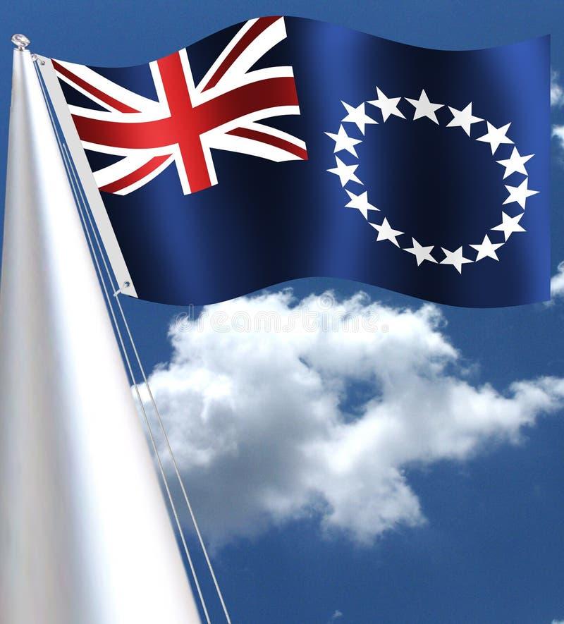 Flaga państowowa KUCBARSKIE wyspy ilustracja wektor