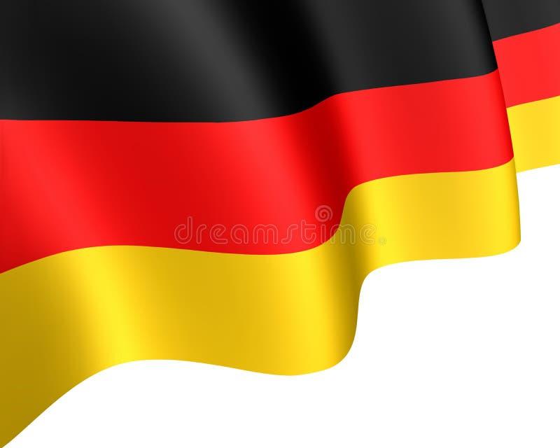 Flaga państowowa Niemcy falowanie w wiatrze ilustracja wektor