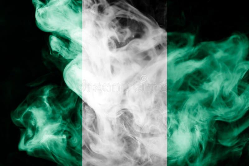 Flaga państowowa Nigeria zdjęcia stock