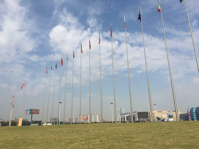 Flaga państowowa obszar trawiasty obrazy royalty free