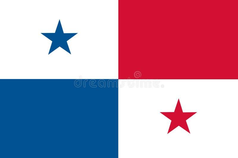 Flaga państowowa Panama Tło z flagą Panama royalty ilustracja