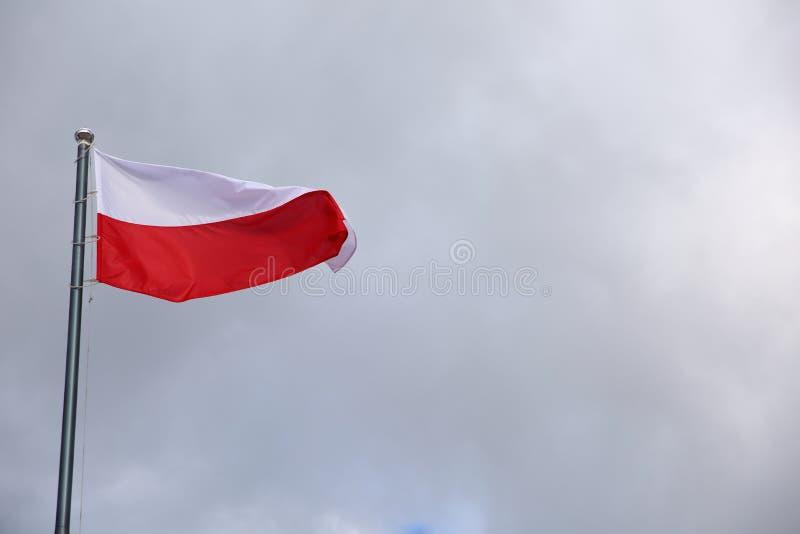 Flaga państowowa Polska obrazy stock