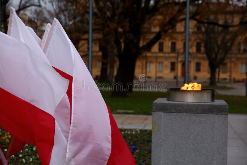 Flaga państowowa Polska zdjęcia stock