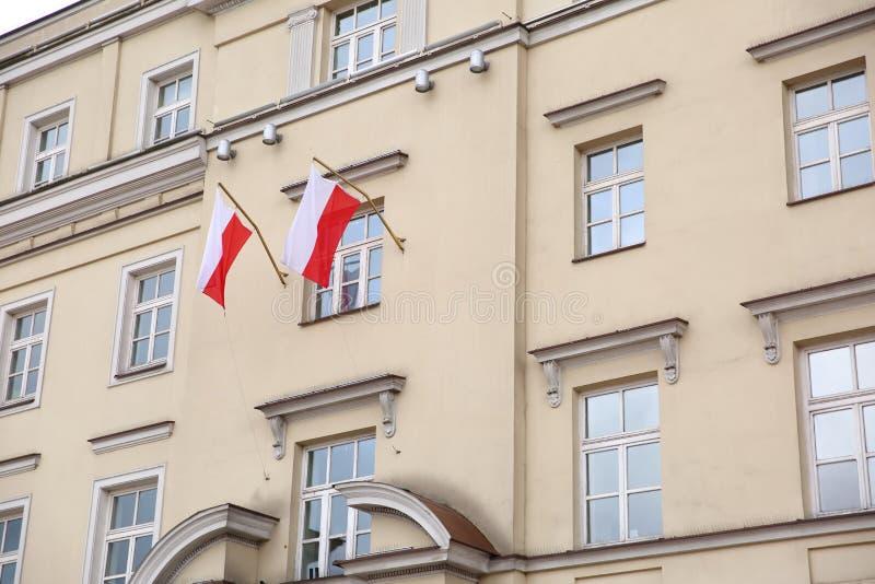 Flaga państowowa Polska obraz stock