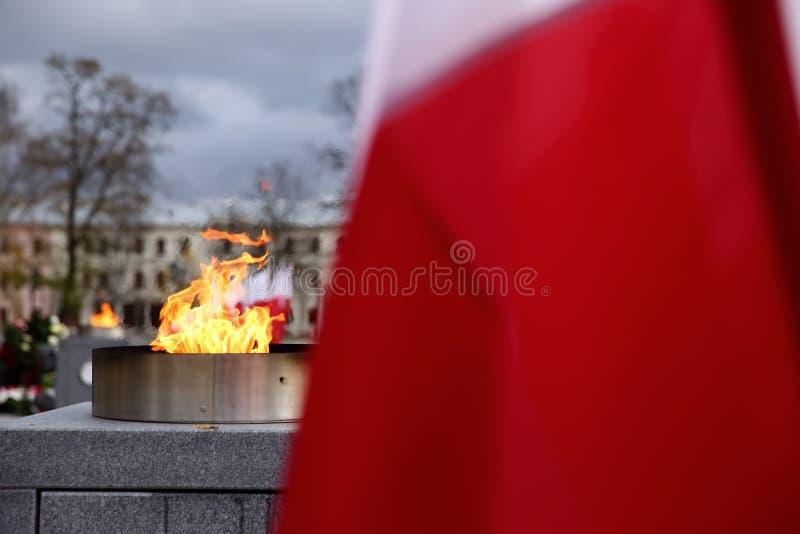 Flaga państowowa Polska zdjęcie stock