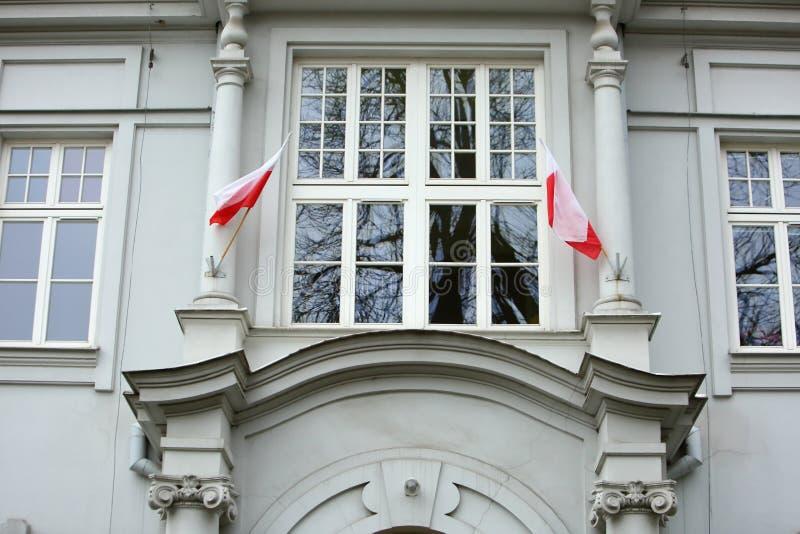 Flaga państowowa Polska obraz royalty free